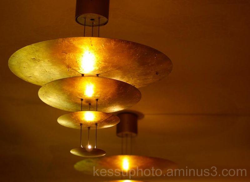 golden, lamp, barcelona