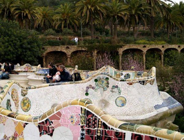 park Güell, barcelona, spain, tourist