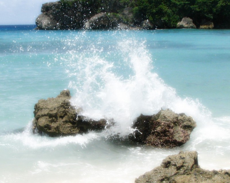 water splash sea
