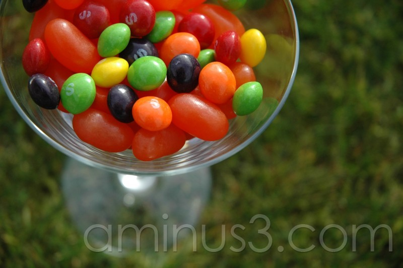 lollies in glass