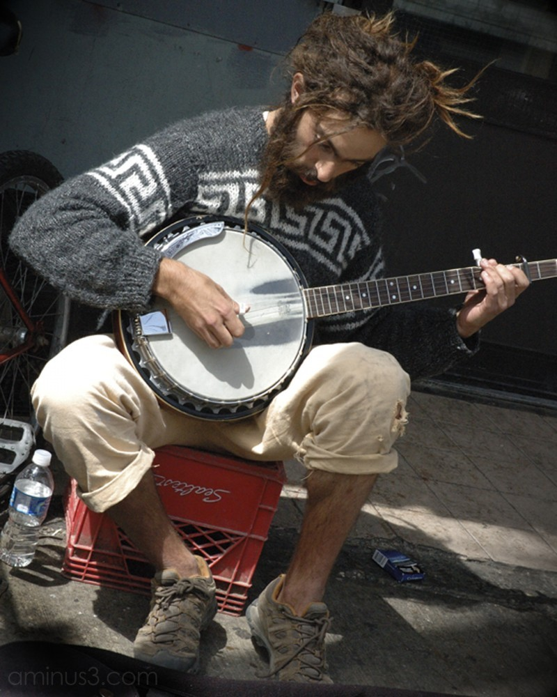 People - Kensington Market Banjo Busker