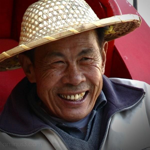 Faces - Hong Kong Rickshaw man