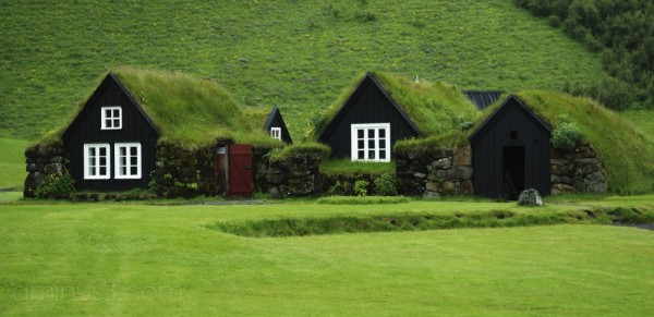 Places - Turf-roofed Farm House, Iceland