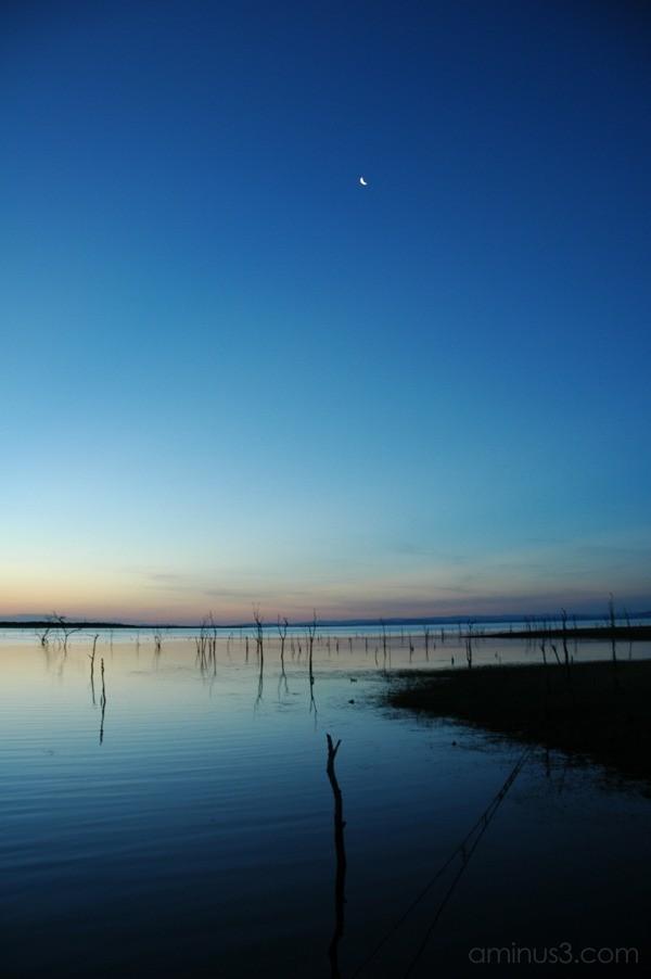 Moonset: Kariba, Zimbabwe