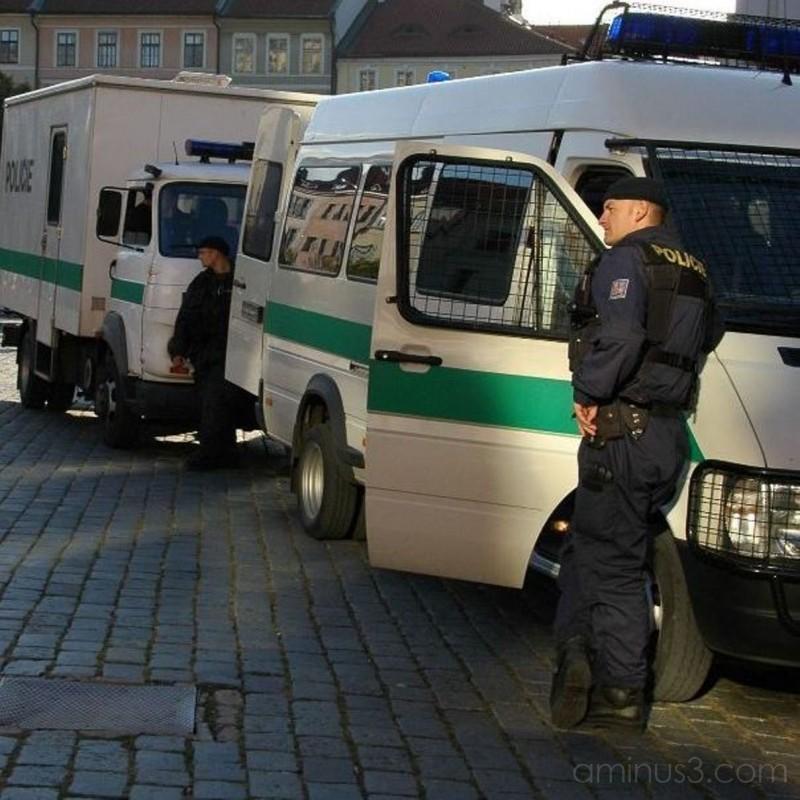 Czech Police Watching Irish Soccer Fans: Prague