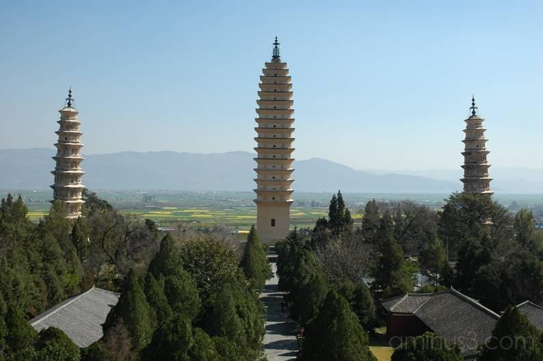 Three Pagodas Dali Yunnan China