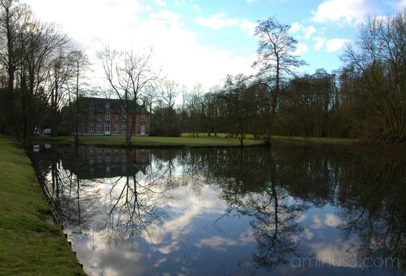 Chateau and Lake, Belgium