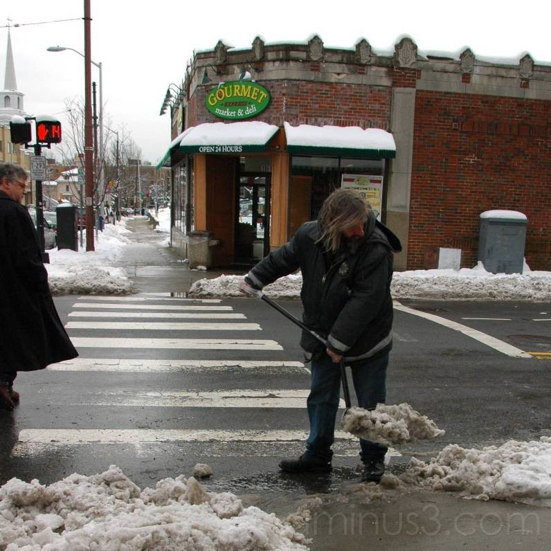 Shovelling Snow - Cambridge Massachusetts