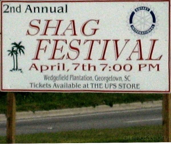 Shag Festival Sign, South Carolina