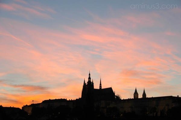 Prague Castle sunset: Prague, Czech Republic