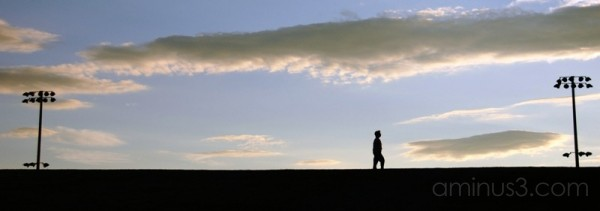silhouette walking cambridge massachusetts usa