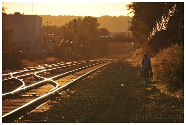 Railroad Walker, Cambridge, Massachusetts, USA