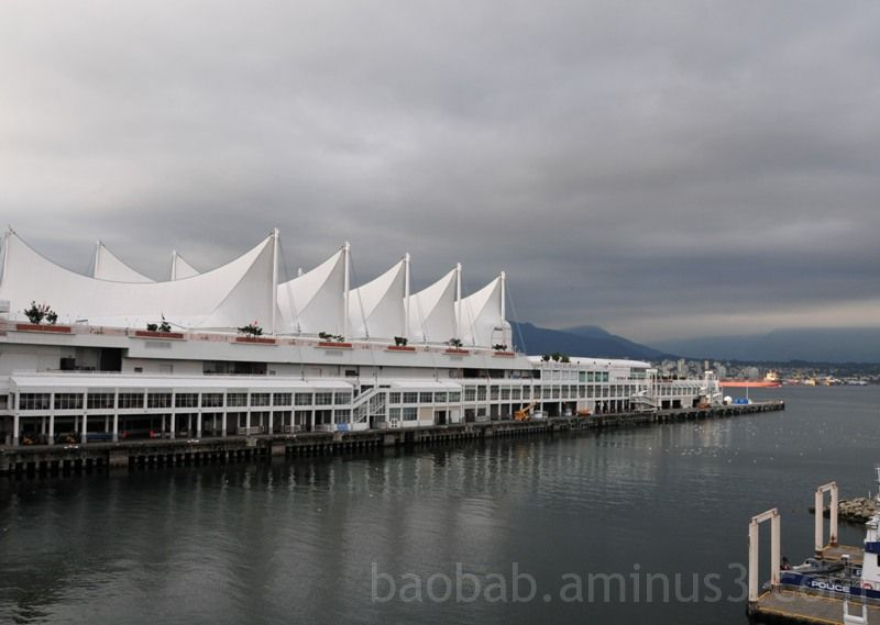Canada Place and North Van In The Rain, Vancouver