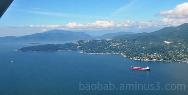 West Vancouver from the Seaplane