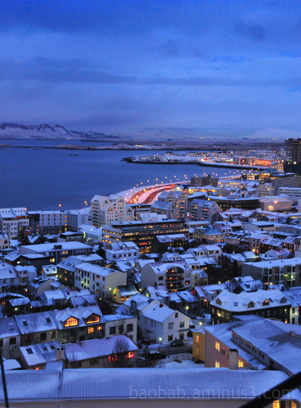 Nightfall over Reykjavik
