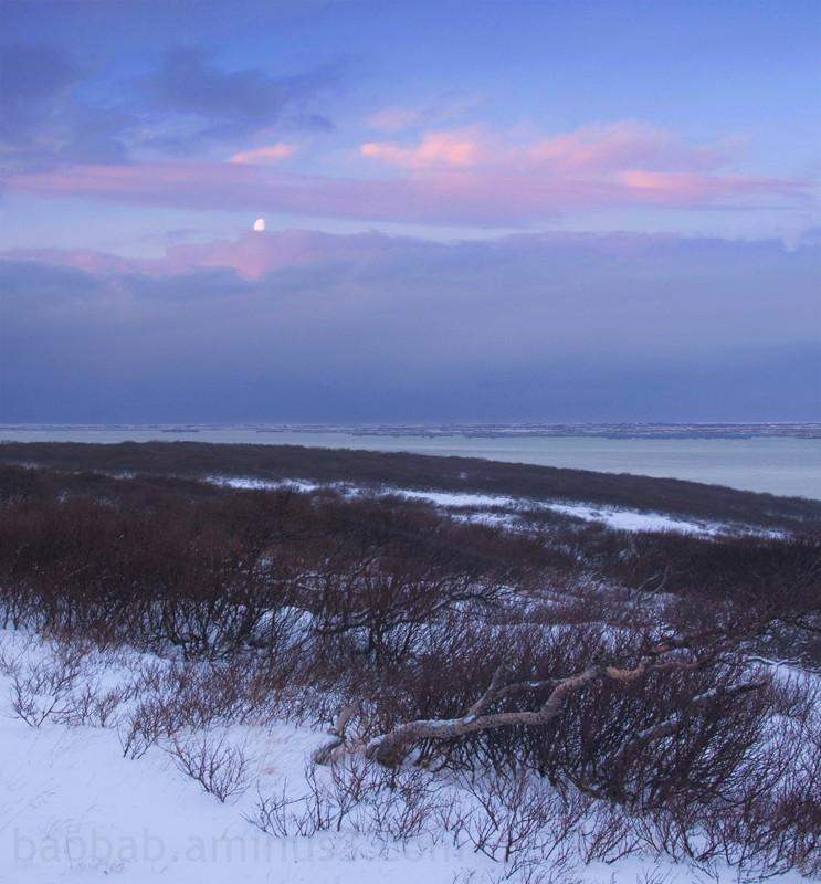 Moon en route to Snaefellsnes