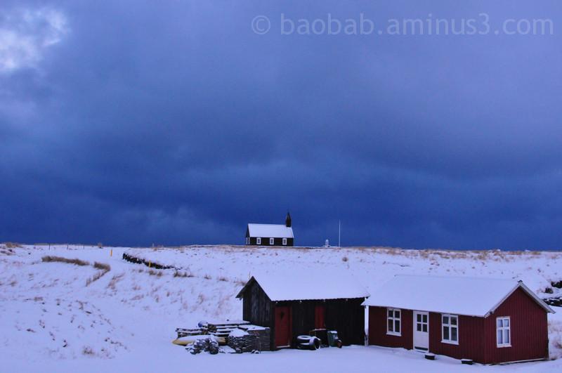 Nightfall at Búðir