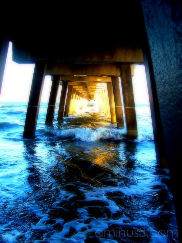 under the pier at tybee island
