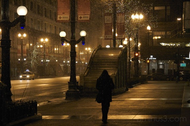 Alone at night on State Street