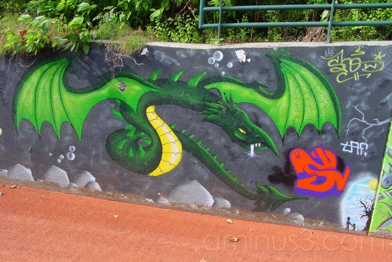 dragon grafitti
