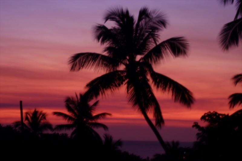 sunset on Samana Peninsula, Dominican Republic