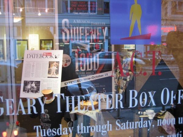 ACT's Sweeney Todd window