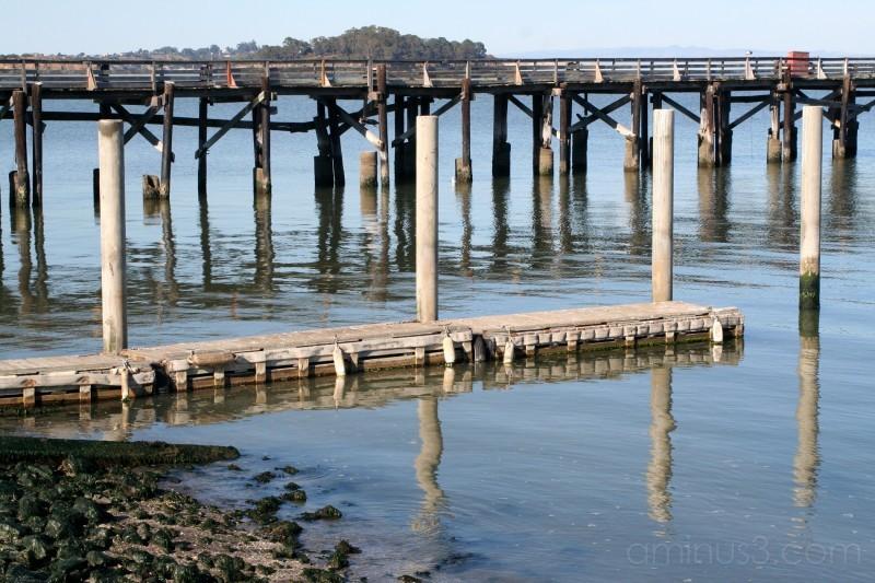 wooden pier near Richmond Bridge