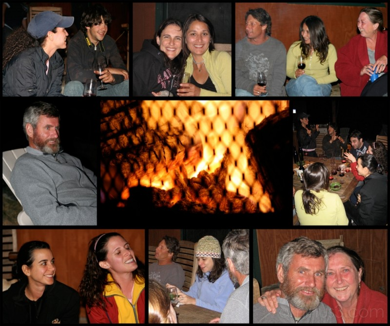 Collage from Sarah's Birthday Dinner, Kern River