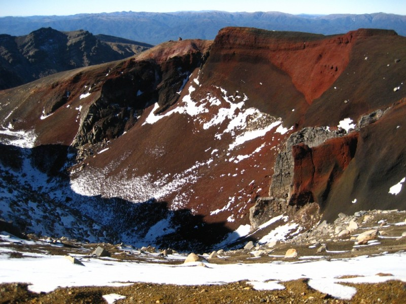 The Red Crater on the Tongariro Crossing