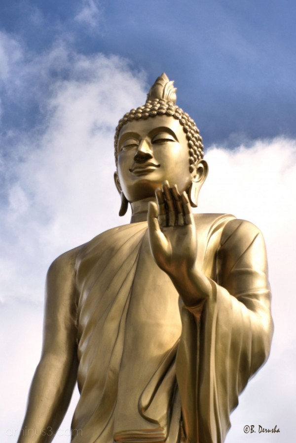 buddist statue sky