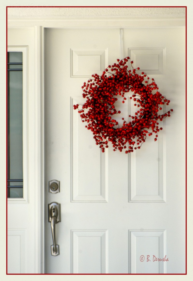 door decoration christmas wreath