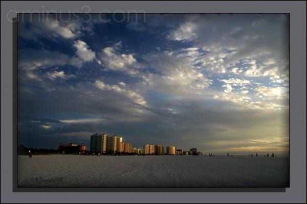 White Sandy Beaches at Sunset