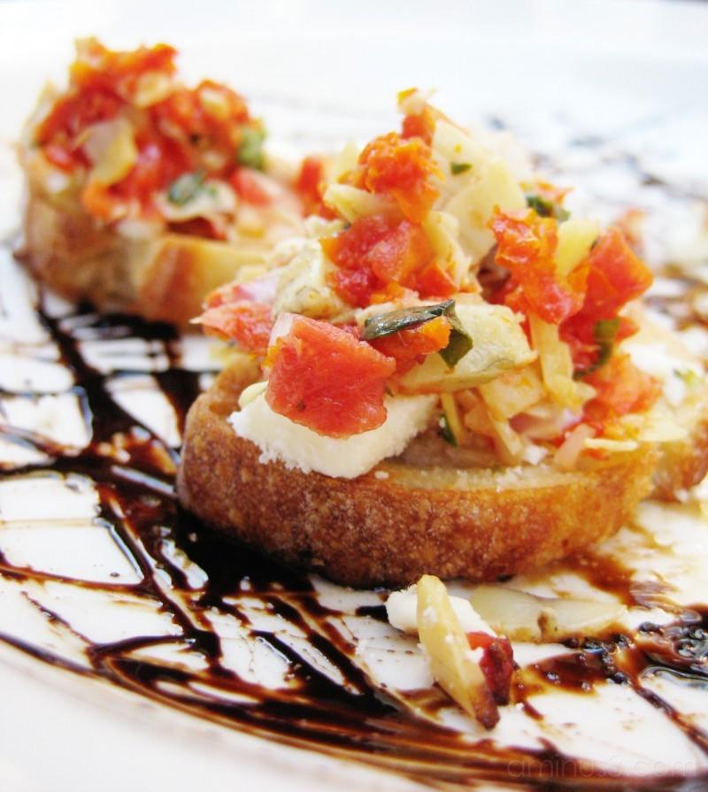 plate of bruschetta