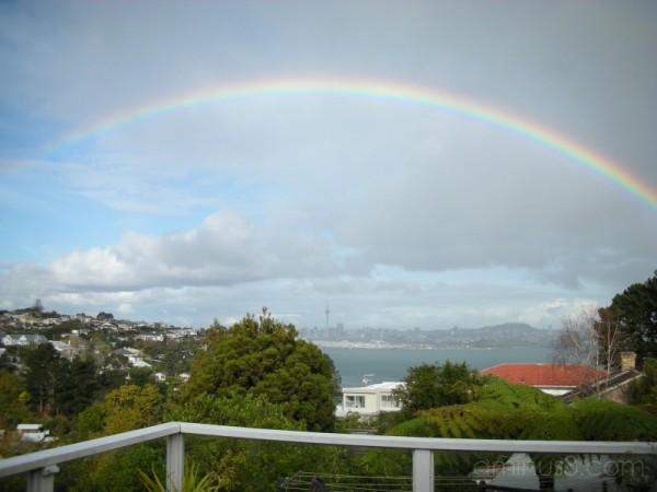 Double rainbow over Auckland