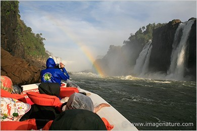 Adventure boat safari in Iguassu Falls, Brazil