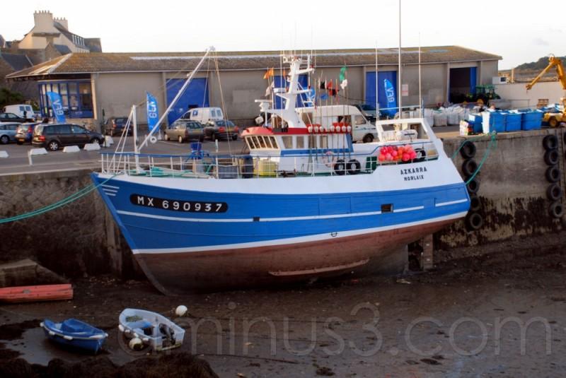 bateau à maréebasse à Roscoff