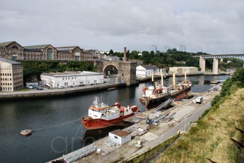bateau, Brest, port, mer