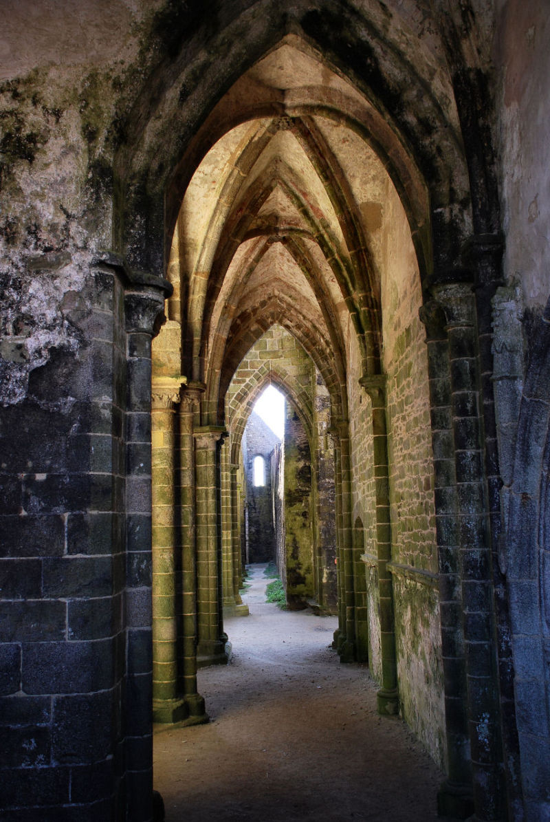 Finistere, abbaye, ruine