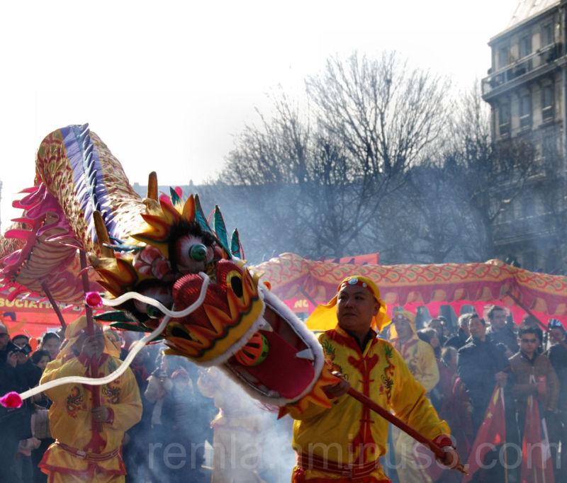 carnaval,chinois,dragon