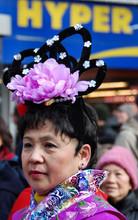 portrait,Chinois,défilé,Paris,carnaval