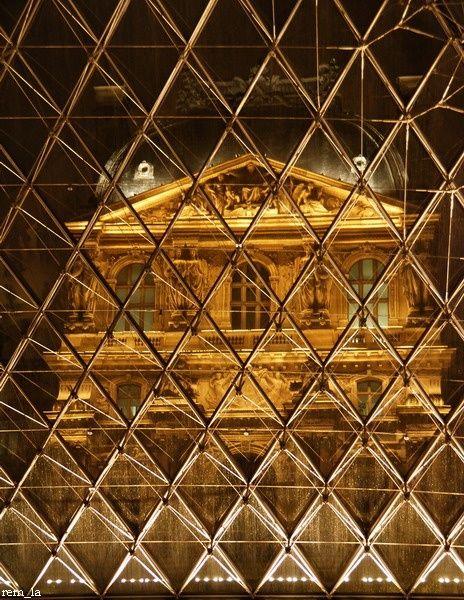 Louvre,Nuit,Monument,Paris