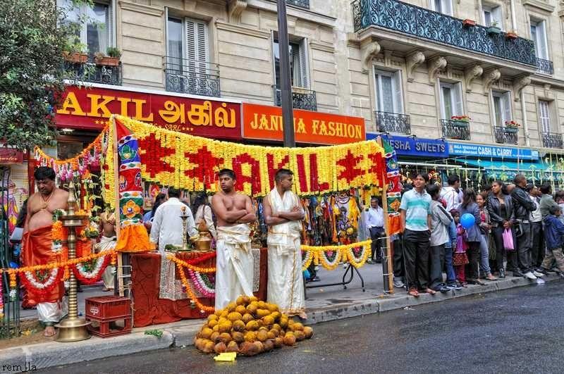 ganesh,fête,paris,religion,portrait