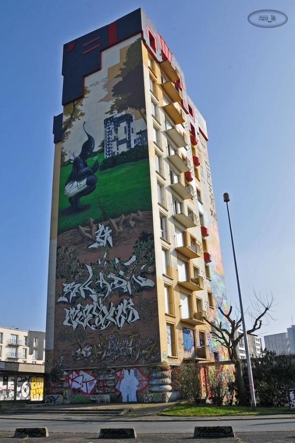 Street Art à la Cité Gaston Tunc   Melun 15