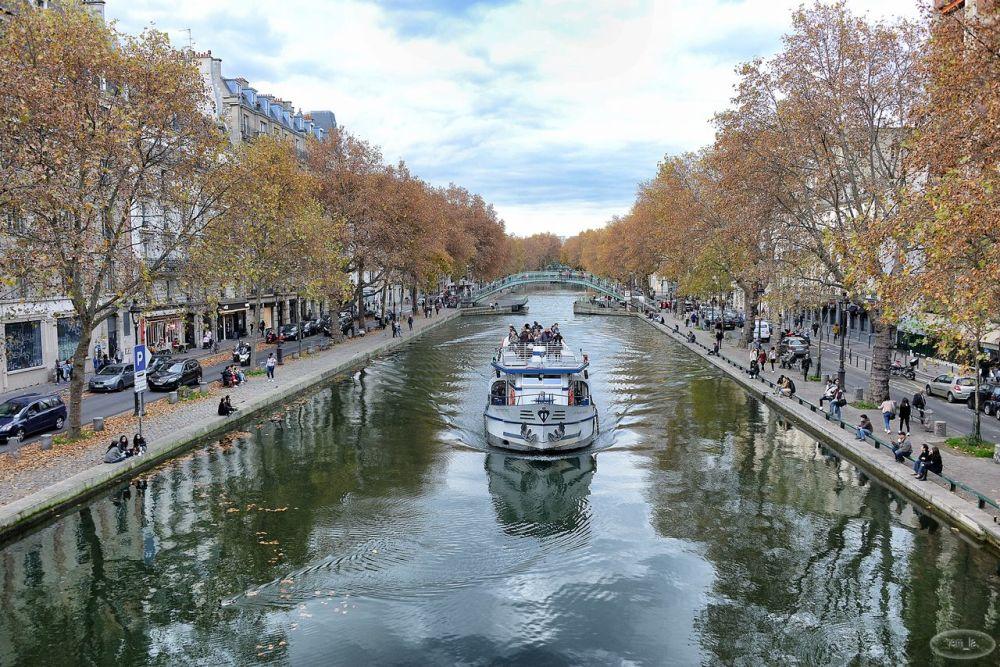 paris,canal,st martin,bateau