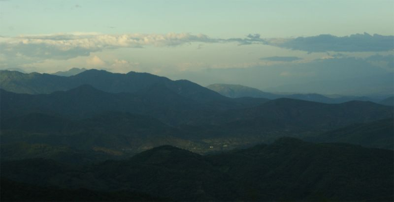 Las montañas de Cobán