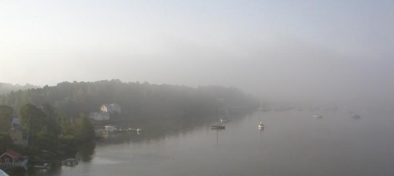 Boats in the fog Turku Finnland