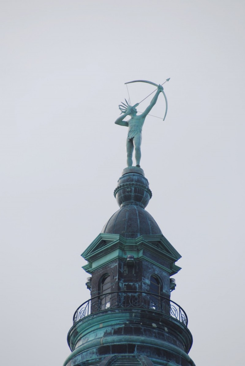 Native American Statue atop  Kansas State Capitol