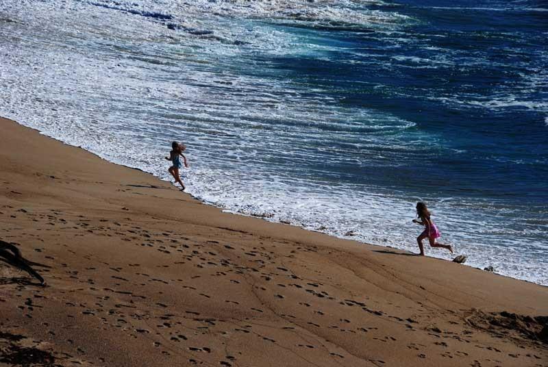 Girls on the beach