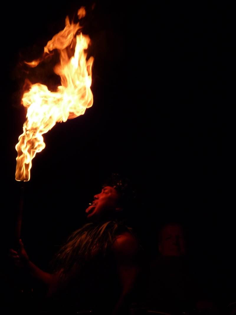 Samoan Fire Knife Dance, Kauai