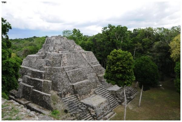 Pyramid structure, Yaxhá Guatemala